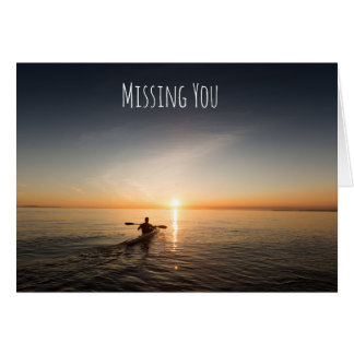Missing You Canoeing on the Ocean Card