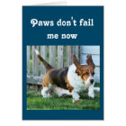 """""""Missing You"""" Card w/Cute Basset Hound, Customise"""