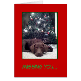 Missing You... Christmas Card