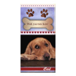 Missing you dog photo template personalised photo card