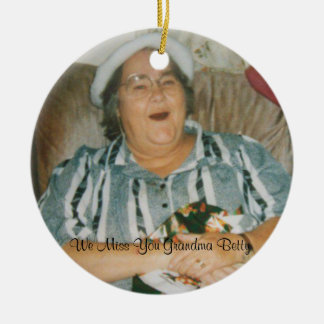 Missing you Grandma Betty Christmas Ornament