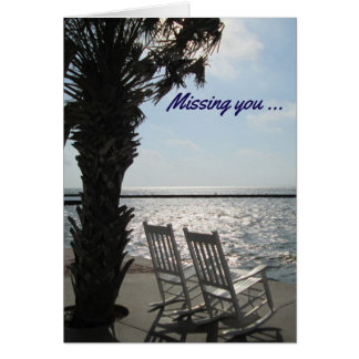 'Missing You' Greeting Card