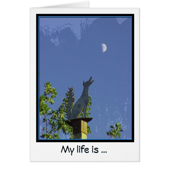 Missing You--Howling at the Moon Notecard