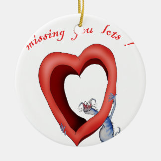 missing you lots, tony fernandes round ceramic decoration