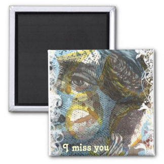 Missing you square magnet