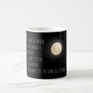 Missing you moon thumb design basic white mug