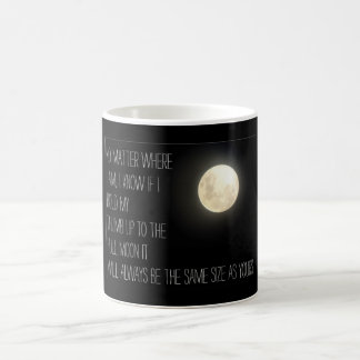 Missing you moon thumb design coffee mug