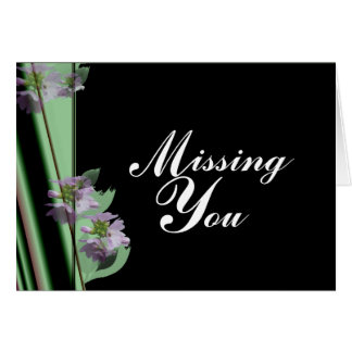 Missing You Notecard Note Card
