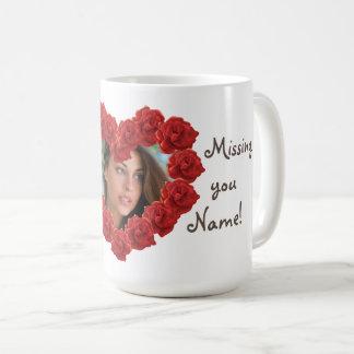 Missing you photo frame mug
