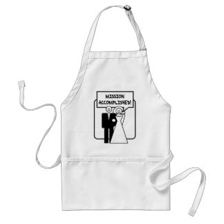 Mission Accomplished Marriage Aprons