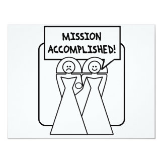"""Mission Accomplished"" Marriage (homosexual) 11 Cm X 14 Cm Invitation Card"