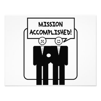 Mission Accomplished Marriage homosexual Personalized Invitations