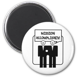 """Mission Accomplished"" Marriage (homosexual) Refrigerator Magnets"