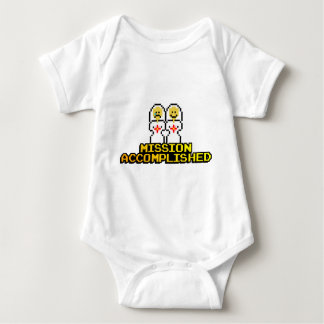 """Mission Accomplished"" Marriage (Lesbian, 8-bit) Baby Bodysuit"