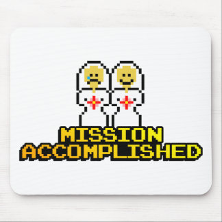 """Mission Accomplished"" Marriage (Lesbian, 8-bit) Mouse Pad"