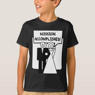 """Mission Accomplished"" Marriage Tshirts"
