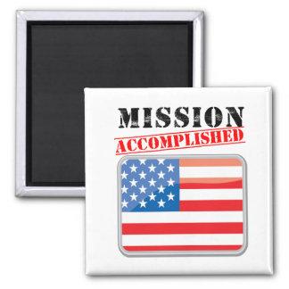 Mission Accomplished United States Square Magnet