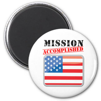 Mission Accomplished United States 6 Cm Round Magnet