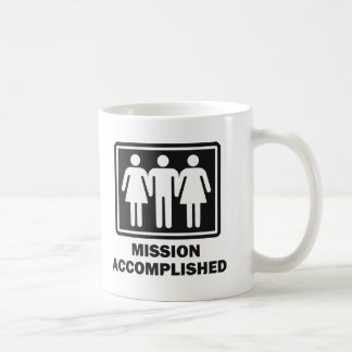 Mission Acomplished Threesome Basic White Mug