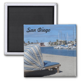 Mission Bay- San Diego Square Magnet