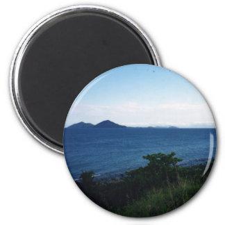 Mission Beach 6 Cm Round Magnet
