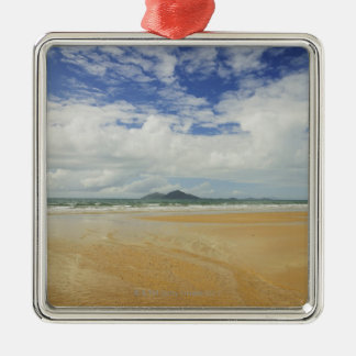 Mission Beach and Dunk Island 2 Silver-Colored Square Decoration