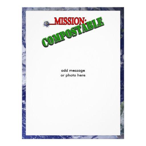 Mission: COMPOSTABLE (4) 21.5 Cm X 28 Cm Flyer