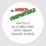 Mission: COMPOSTABLE (4) Stickers