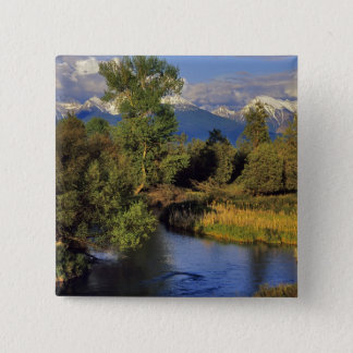 Mission Creek in the National Bison Range in 15 Cm Square Badge