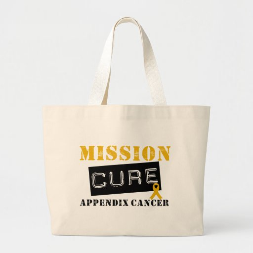 MISSION CURE APPENDIX CANCER CANVAS BAGS
