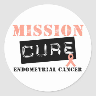 Mission Cure Endometrial Cancer Classic Round Sticker