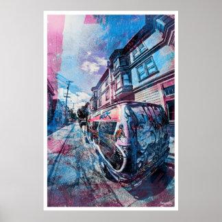 Mission District Graffiti Rocks the van in SanFran Poster
