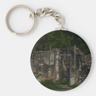 Mission Espada Ruins Basic Round Button Key Ring