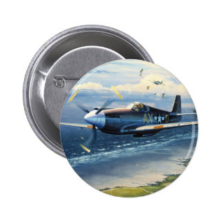Mission Over Normandy by William S. Phillips 6 Cm Round Badge