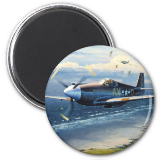 Mission Over Normandy by William S. Phillips 6 Cm Round Magnet