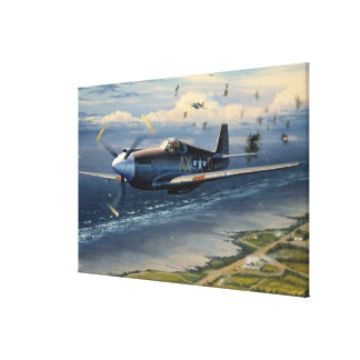 Mission Over Normandy by William S. Phillips Print Stretched Canvas Prints
