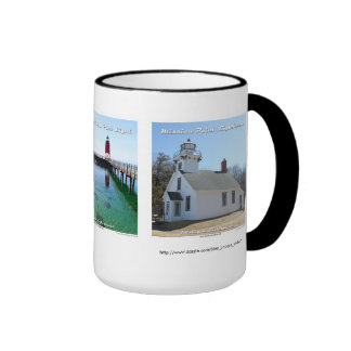 Mission Point _ Charlevoix Pier _ Petosky Light Ringer Coffee Mug