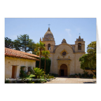 Mission San Carlos Borroméo de Carmelo Products Greeting Card