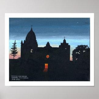 Mission San Carlos, Carmel, California Poster