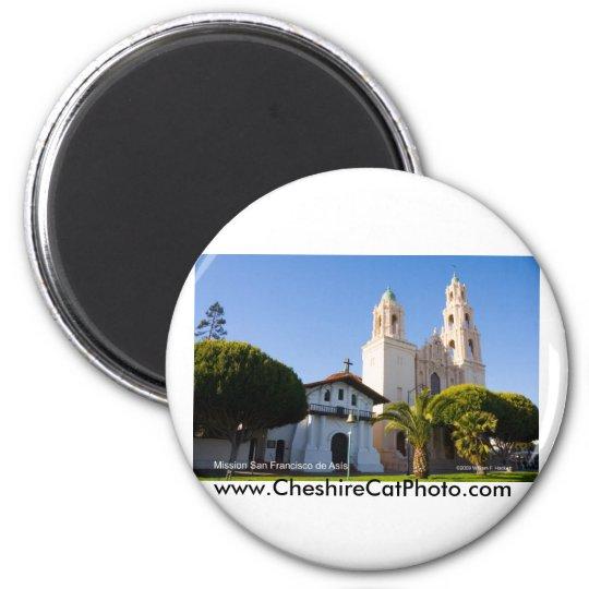 Mission San Francisco de Asís California Products 6 Cm Round Magnet