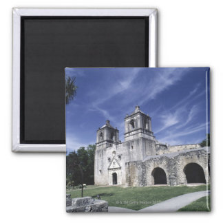 Mission San Jose, San Antonio, Texas, USA Square Magnet