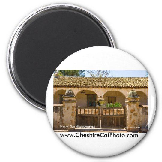 Mission San Miguel Arcángel California Products 6 Cm Round Magnet