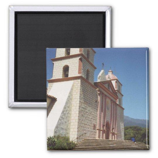 Mission Santa Barbara Square Magnet