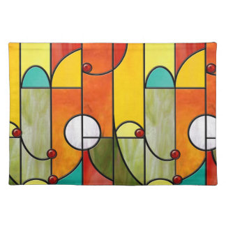 Mission style Tiffany faux stained placemat