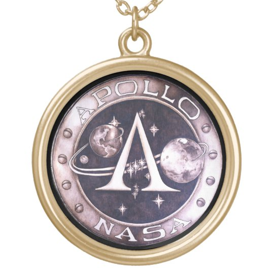 Mission to Mars Pendant - Large Gold