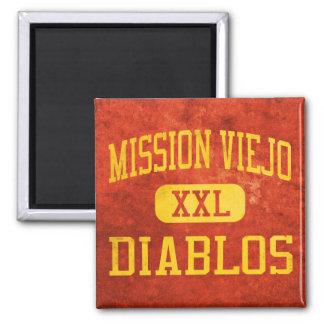 Mission Viejo Diablos Athletics Square Magnet