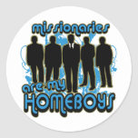 Missionaries Are My Homeboys Round Stickers