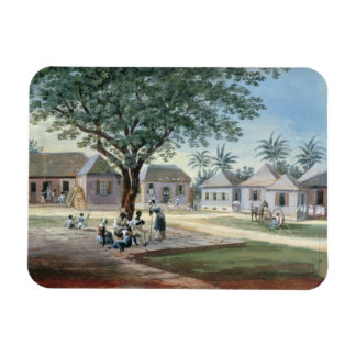 Missionary Buildings, St. Johns, Antigua (w/c and Rectangular Photo Magnet