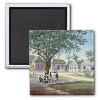 Missionary Buildings, St. Johns, Antigua (w/c and Square Magnet