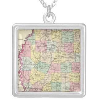 Mississippi 10 silver plated necklace